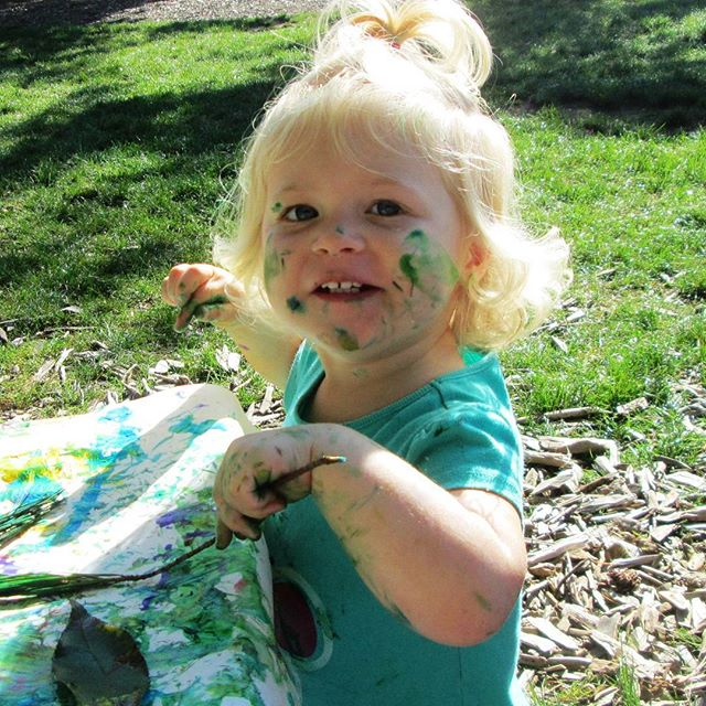 Outdoor art in the park-toddlers